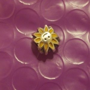 Pandora retired silver sunshine/yellow enamel